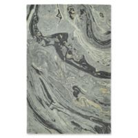 Kaleen Marble Orbit 9'6 x 13' Area Rug in Graphite