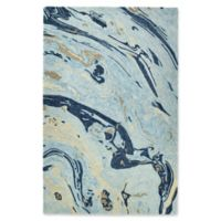 Kaleen Marble Orbit 9'6 x 13' Area Rug in Blue