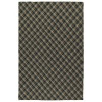 Kaleen Sartorial Harvard 2' x 3' Accent Rug in Charcoal