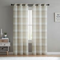 VCNY Home South Hampton Sheer 96-Inch Grommet Top Window Curtain Panel Pair in Natural