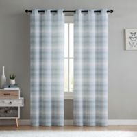 VCNY Home South Hampton Sheer 96-Inch Grommet Top Window Curtain Panel Pair in Aqua