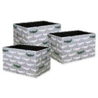 Lush Décor Alligator Large Collapsible Storage Box (Set of 3)