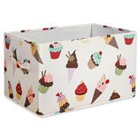 Lush Décor Cupcake Ice Cream Large Collapsible Storage Box (Set of 3)