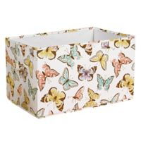 Lush Décor Fluttery Butterfly 16-Inch x 12-Inch Collapsible Storage Boxes (Set of 3)