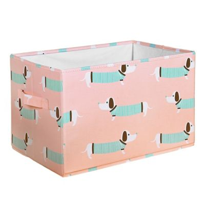 Lush Décor Sausage Dog 16 Inch X 12 Inch Collapsible Storage Boxes (Set