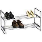 Household Essentials® 2-Tier Stackable Shoe Rack in Chrome