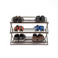 Supermoon Origami 3-Tier Foldable Shoe Rack in Brown