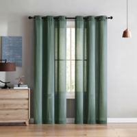 VCNY Home Jeanette 96-Inch Grommet Top Window Curtain Panel Pair in Blue