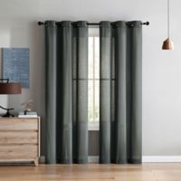 VCNY Home Jeanette 96-Inch Grommet Top Window Curtain Panel Pair in Silver