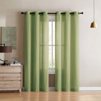 VCNY Home Jeanette 96-Inch Grommet Top Window Curtain Panel Pair in Sage