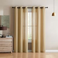 VCNY Home Jeanette 84-Inch Grommet Top Window Curtain Panel Pair in Cream