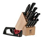 Zwilling® J.A. Henckels Four Star 12-Piece Knife Block Set with 2-Stage Sharpener