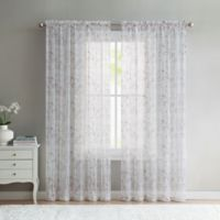 VCNY Home Elizabeth Sheer 108-Inch Rod Pocket Window Curtain Panel in Red