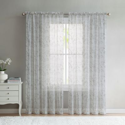 VCNY Home Elizabeth Sheer 95 Inch Grommet Top Window Curtain Panel In Taupe