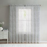 VCNY Home Elizabeth Sheer 108-Inch Rod Pocket Window Curtain Panel in Taupe