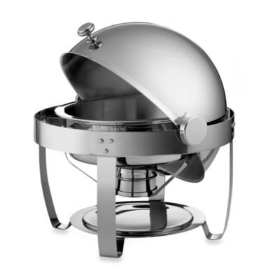 tramontina 6quart round stainless steel chafing dish with rolltop lid - Chaffing Dish