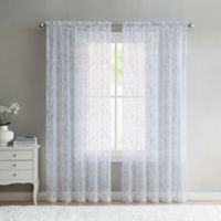 VCNY Home Elizabeth Sheer 108-Inch Grommet Top Window Curtain Panel in Grey