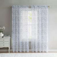 VCNY Home Elizabeth Sheer 108-Inch Rod Pocket Window Curtain Panel in Blue