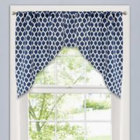 Colordrift Morocco Swag Window Valance in Navy