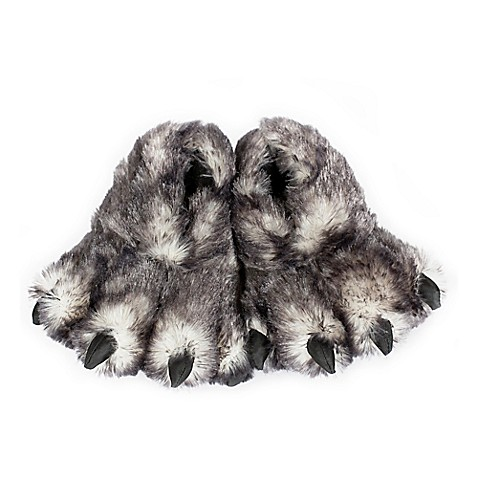 Wishpets Wolf Paw Slippers Bed Bath Amp Beyond