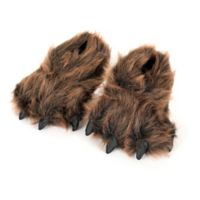 Wishpets Size Small 7-Inch Furry Grizzly Bear Slippers
