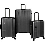 Traveler's Choice® Wellington 3-Piece Expandable Spinner Suitcase Set in Charcoal