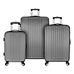 Elite Versatile 3-Piece Hardside Spinner Luggage Set in Grey