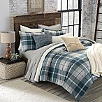 UGG® Monterey Plaid Chambray Reversible Full/Queen Comforter Set in Blue