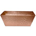 Large Hammered Aluminum Vanity Bin in Copper