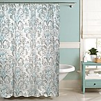 Raymond Waites Moorea Shower Curtain in Ivory/Aqua