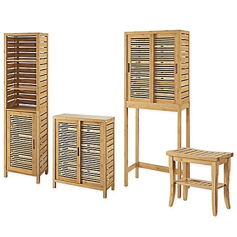 image of Linon Home Bracken Bamboo Collection