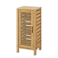 Linon Home Bracken Bamboo 1-Door Cabinet