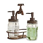 Mud Pie® Garden Faucet Soap and Lotion Dispenser in Antique Brown