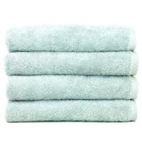Linum Home Textiles Soft Twist Hand Towels in Aqua Blue (Set of 4)