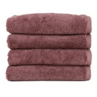 Linum Home Textiles Soft Twist Hand Towels in Plum (Set of 4)