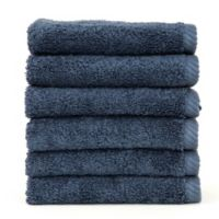 Linum Home Textiles Soft Twist Washcloths in Midnight Blue (Set of 6)