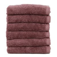 Linum Home Textiles Soft Twist Washcloths in Plum (Set of 6)