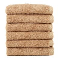 Linum Home Textiles Soft Twist Washcloths in Sand (Set of 6)