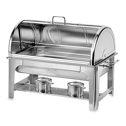 tramontina® 9-quart stainless steel chafing dish with roll-top lid
