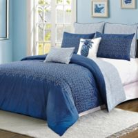Meadow King Comforter Set in Dark Blue