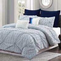 Batik Queen Comforter Set in Blue