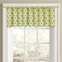 Morocco 14-Inch Window Valance in Green