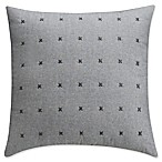 Landon Stria Stripe Square Throw Pillow in Grey
