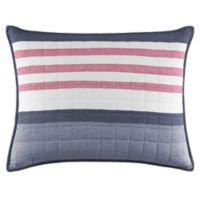 Nautica® Angler Quilted Standard Pillow Sham in Blue