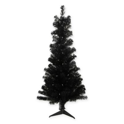 northlight 4 foot pre lit artificial christmas tree in black - 4 Foot White Christmas Tree