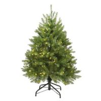 Northlight 4-Foot Northern Pine Pre-Lit Artificial Christmas Tree with Clear LED Lights