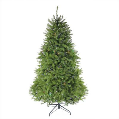 northlight 65 foot pre lit northern pine full christmas tree in green with multi - Holiday Time Christmas Trees