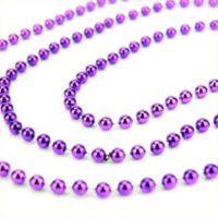 St. Nick's Choice 15-Foot Metallic Beaded Garland in Purple