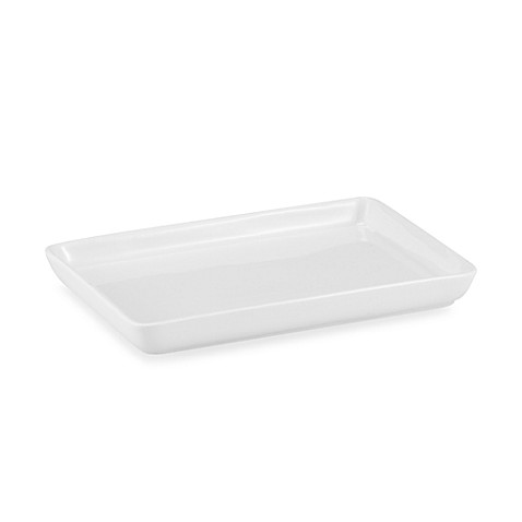 Oneida chef 39 s table small serving tray in white bed for White ceramic bathroom tray