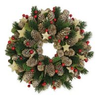Northlight 10-1/2-Inch Traditional Pine Wreath